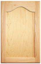 Stained Flat Panel with Cathedral Doors  -Cherry