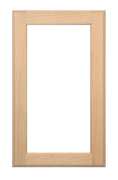 Stained Single Panel Glass Pane Doors - Cherry