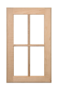 Stained Four Panel Glass Pane Doors - Maple