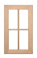 Stained Four Panel Glass Pane Doors - Cherry