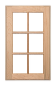 Stained Six Panel Glass Pane Doors - Oak