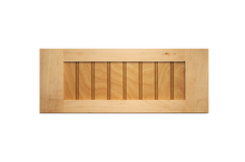 Stained Shaker Beaded Panel Drawer Fronts - Maple