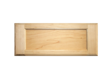 Stained 5-Piece Flat Panel Drawer Fronts - Oak