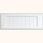 MDF 5-Piece Flat Beaded Panel Drawer Front - Painted