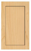 Thermofoil Shaker Doors - Natural Maple
