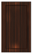 Thermofoil Flat Panel Doors - Ebony Exotica