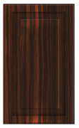 Thermofoil Raised Panel Doors - Ebony Exotica