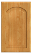 Thermofoil Raised Panel With Arch Doors -  Honey Maple