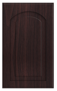 Thermofoil Raised Panel With Arch Doors -  Brazilian Walnut
