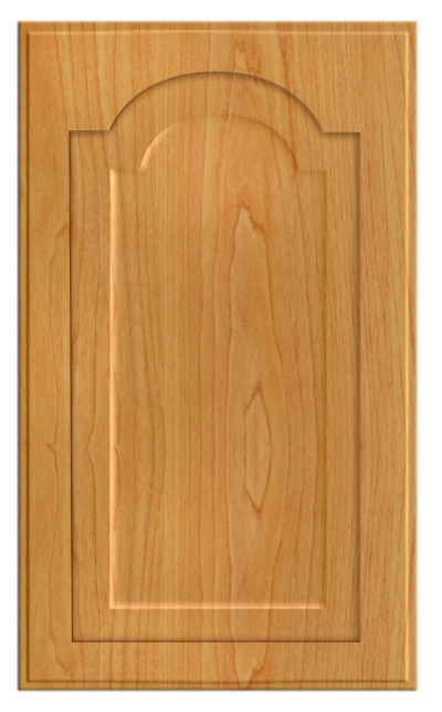 Thermofoil Raised Panel With Cathedral Door Honey Maple  sc 1 st  Cabinet Door World & Thermofoil Raised Panel With Cathedral Door Honey Maple - Cabinet ...