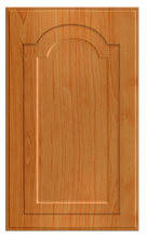 Thermofoil Raised Panel With Cathedral Doors - Pearwood