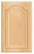 Thermofoil Raised Panel With Cathedral Doors - Natural Maple