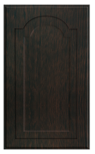 Thermofoil Raised Panel With Cathedral Doors - Espresso Oak