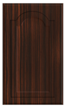 Thermofoil Raised Panel With Cathedral Doors - Ebony Exotica