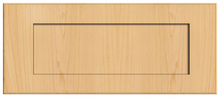Thermofoil Shaker Drawer Fronts - Natural Maple