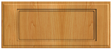 Thermofoil Flat Panel Drawer Fronts - Honey Maple