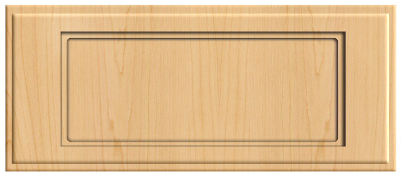 Thermofoil Flat Panel Drawer Front Natural Maple Cabinet