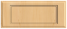 Thermofoil Flat Panel Drawer Fronts -  Natural Maple