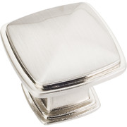 Milan 1 Plain Square Cabinet Knob - Satin Nickel