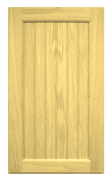 Flat Beaded Panel Door - Oak