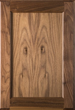 Stained Flat Panel Door - Walnut