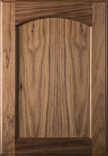 Stained Flat Panel with Arch Door - Walnut