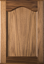 Stained Flat Panel with Cathedral Door - Walnut