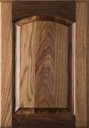 Raised Panel with Arch Door - Walnut