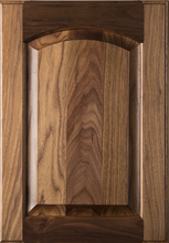 Stained Raised Panel with Arch Door - Walnut