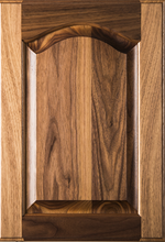 Stained Raised Panel with Cathedral Door - Walnut