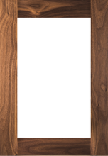 Single Panel Shaker Glass Pane Door - Walnut