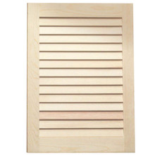 Stained Louvered Door - Maple