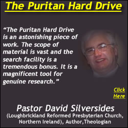 Pastor David Silversides Recommends the Puritan Hard Drive