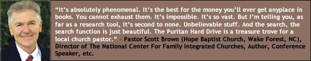Pastor Scott Brown on the Puritan Hard Drive