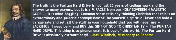 Jack Windisch on the Puritan Hard Drive