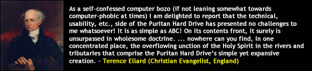 Terence Ellard on the Puritan Hard Drive