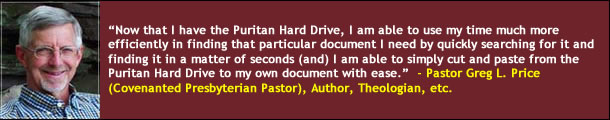 Pastor Greg Price on the Puritan Hard Drive