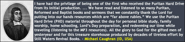 Michael Caughran on the Puritan Hard Drive