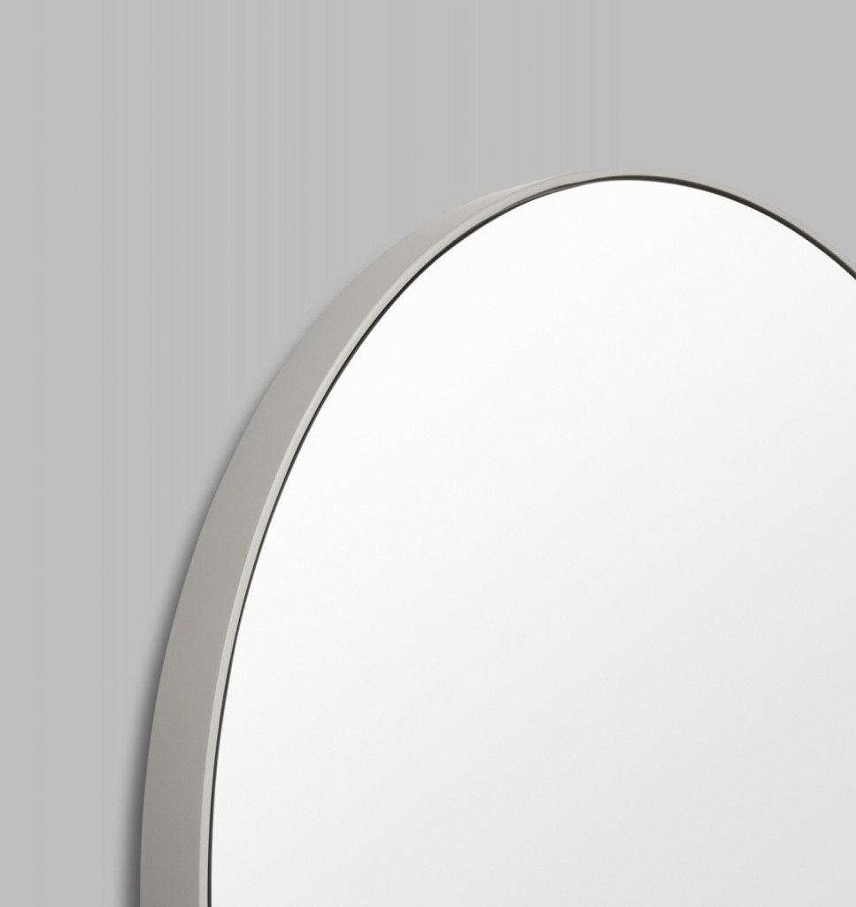 Round Mirror Grey Frame