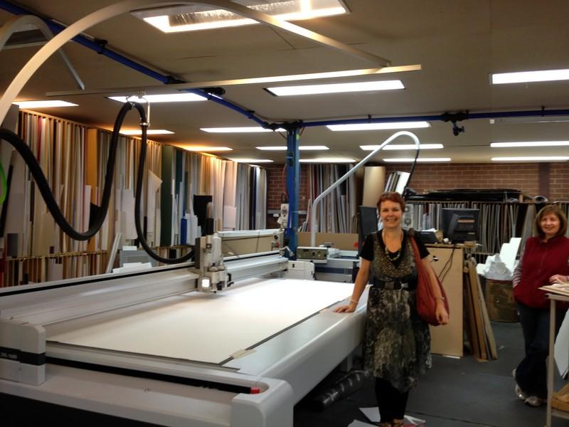 The big mat cutting machine
