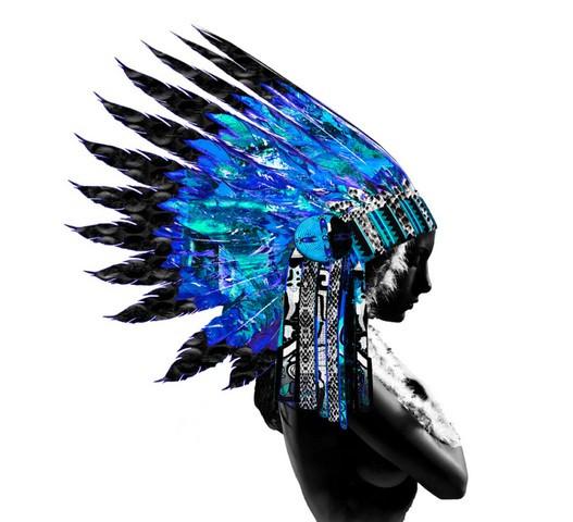 Native Blue Warrior