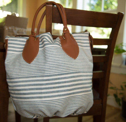 Ashley stripe handbag