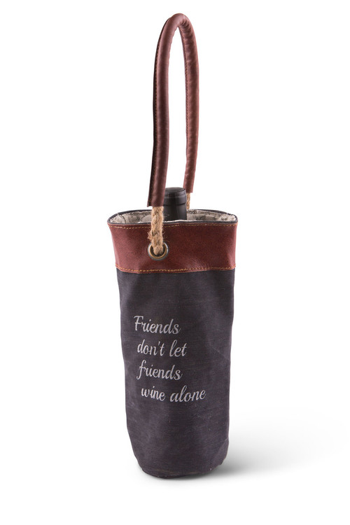 Wine Bag - Friends Don't Let Friends Wine Alone