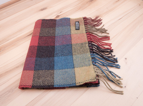 Box Check Multi Color Wool Scarf