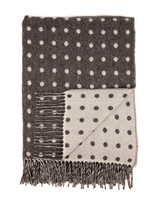 Grey Spot Lambs Wool Throw