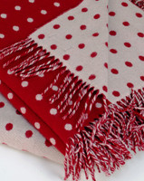 Cherry Spot Lambs Wool Throw