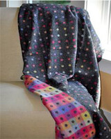 Grey Multi Colored Spot Throw