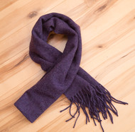 Deep Purple Wool Scarf