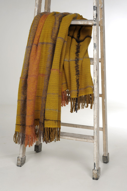 Wool Mohair Blend Throw Blanket Imported from Spain