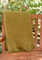 Olive Mohair Throw Blanket